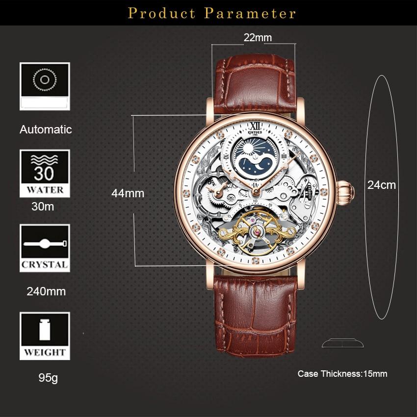 H5a2c7f7ae2544e4692aaef7f9b3c7be2r KINYUED Skeleton Watches Mechanical Automatic Watch Men Tourbillon Sport Clock Casual Business Moon Wrist Watch Relojes Hombre