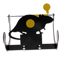 Self Resetting Target Mouse Tumbler Spinning Target Reset Hunting Shooting Target Training 3.5mm for Hunting Shooting Practice