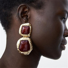 2019 ZA Statement Vintage Earrings Dangle  For Women Girls Christmas Gift Pendientes Fashion Jewelry Wholesale