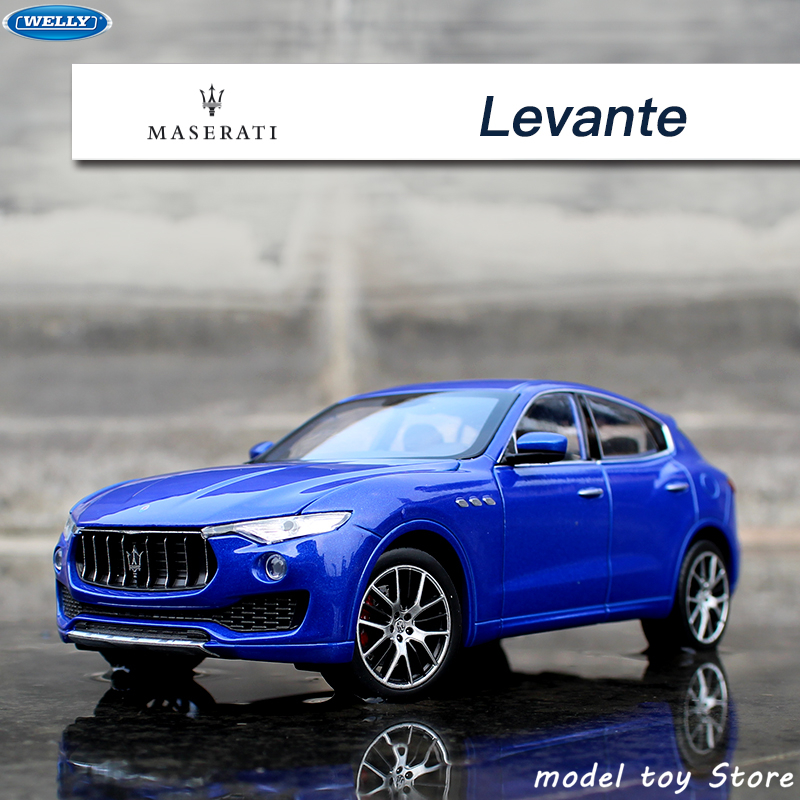 WELLY 1:24 Maserati Levante simulation alloy car model crafts decoration collection toy tools gift