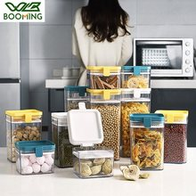 WBBOOMING Plastic Sealed Tank Grids Design Container Kitchen and Home Storage Organizer Boxes 3 Capacity Food Canister Bottles