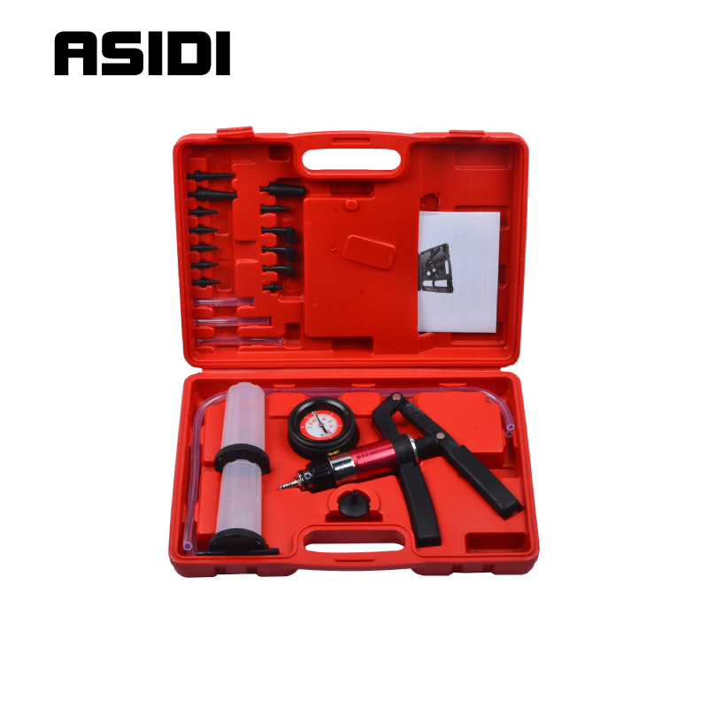Hand Held Vacuum Pressure Pump Tester Brake Fluid Bleeder Bleeding Kit