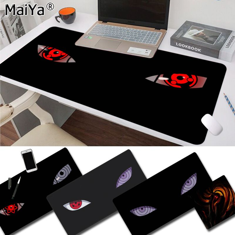 Maiya Cool New Anime Naruto Eyes Laptop Gaming Mice Mousepad Free Shipping Large Mouse Pad Keyboards Mat