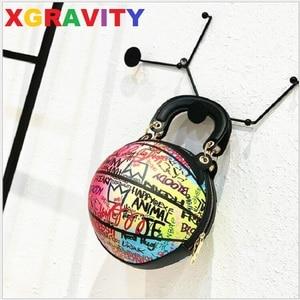 Osobowość parodia koszykówka Torebka dla kobiet 2021 Graffiti torba na piłki dzikie Ins łańcuch torba Sac Femme Torebka Damska H251