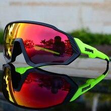 2019偏光5レンズサイクリングロードバイクサイクリング眼鏡サイクリングサングラスmtbマウンテン自転車サイクリングゴーグルUV400
