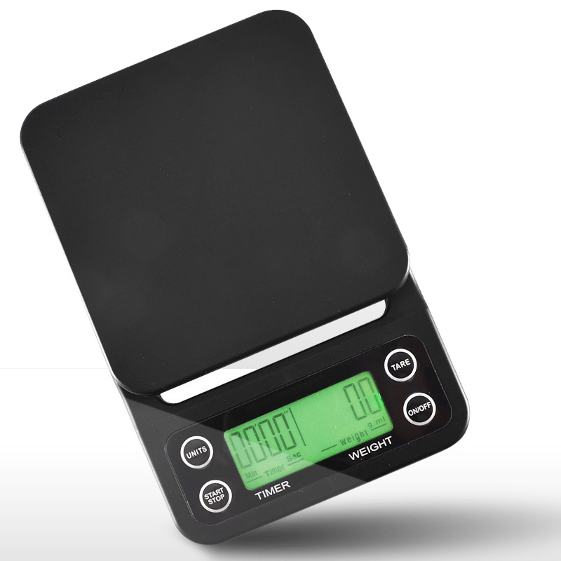 LCD Digital Kitchen Scale Drip Coffee Electronic Food Scales with Timer
