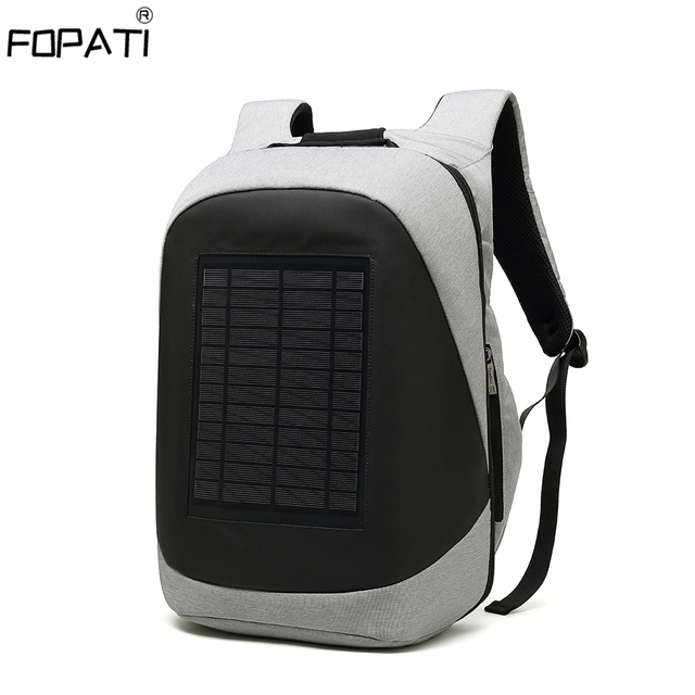 Multifunction Solar Energy Rechargeable Backpack Men Anti Thief Waterproof 15.6 inch USB Charging Laptop Backpack Travel Bags 1