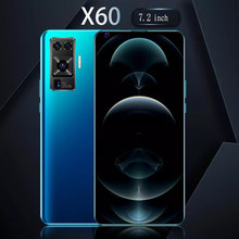 7.2 Polegada x60 rede snapdragon 865 16 + 32mp 8gb ram 128gb rom deca core 4 câmera 2020 mais recente telefone inteligente versão global em estoque