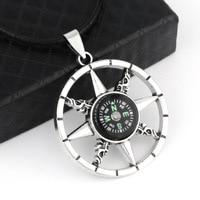 HNSP-collar colgante con brújula para hombre y niño, collar Real Punk, BFF, regalo, venta al por mayor