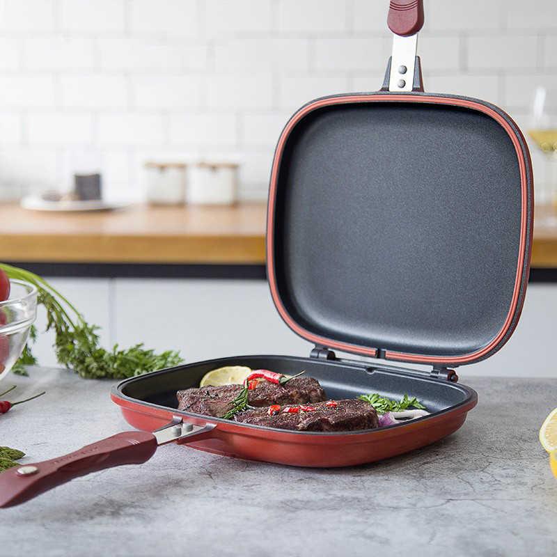 Koekenpan Non-stick Dubbelzijdig Barbecue Koken Tool Stabiel Duurzaam En Betrouwbaar Kookgerei Geschikt Voor Thuis Outdoor