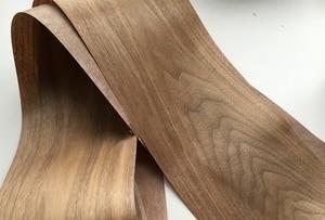 Image 5 - Custom Natural Genuine Black Walnut Wood Veneer for Furniture Stereo 0.2mm to 0.5mm C/C