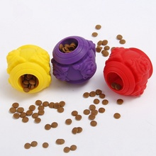 Dog Toy Interactive Rubber Balls Pet Dog Cat Pup Food Dispenser Teeth Ball Dog Chew Leaking Food Toys Tooth Cleaning Balls Toy pet dog toys rubber ball random color pet dog cat puppy chew toys ball teeth chew toy tooth cleaning balls food products for pet
