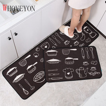 Kitchen Carpet Bedroom Rug Kitchen Mat Door Mat Foot Pad Home Balcony Rug Long Strip Type Non-slip Bathroom Absorbent Floor Mat cute cartoon bathroom mat absorbent home environmental protection flocking mat door mat bedroom anti slip rug