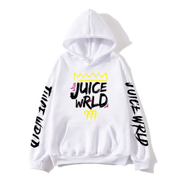 2020 black and white red J UICEWrld hoodie   1