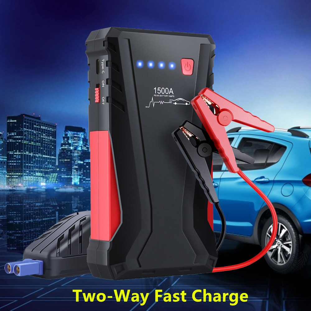 High Power 1500A Car Jump Starter Power Bank 12V Petrol Diesel Starting Device Car Charger For Car Battery Booster Buster LED
