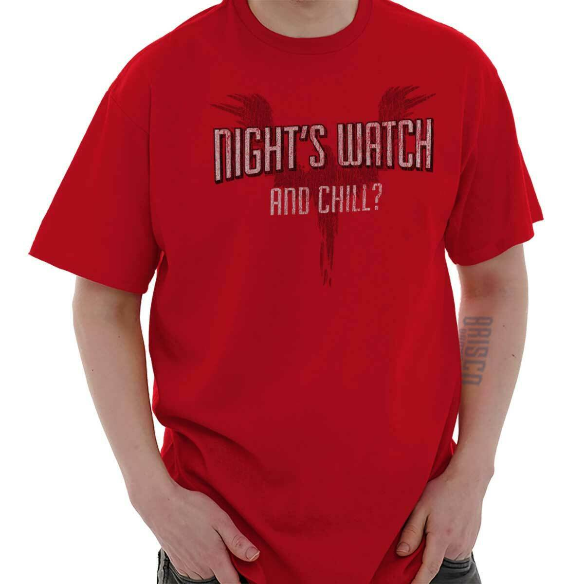 Night Watch And Chill Fantasy TV Show Funny Short Sleeve T-Shirt Tees Tshirts Mens Shirts Short Sleeve Trend Clothing image