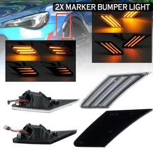 Pair Dynamic Led Turn Signals Flowing light led side marker 12V Bumper light Sequential Blinker for Subaru BRZ for Scion FR-S