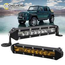 led light bar 12v 24v car running lights 7inch off road led driving work ledbar atv suv truck boat fog light waterproof 48w