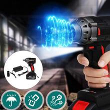288VF klucz elektryczny 600NM bezszczotkowy klucz udarowy akumulator akumulatorowa litowo-jonowa akumulatorowa lampka LED 1 2 gniazdo elektronarzędzia tanie tanio NoEnName_Null Energii elektrycznej 20X10X15cm 0-4300 ipm Electric Brushless Impact Wrench Baterii 600N m Remont Zespołu