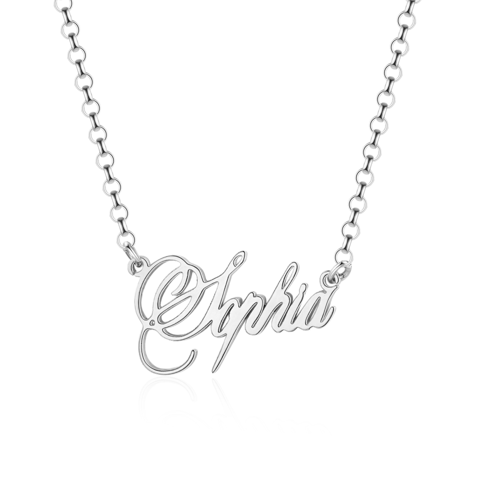 H5a2dd8bce64e44b1a58ab64698b707a73 925 Sterling Silver Personalized Nameplate Letter Necklace Custom Made Name Pendant Russian Name Christmas Gifts for Girlfriend