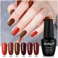 Ibdgel 12 шт полный цвет лак для ногтей геллак один чехол насыщенный