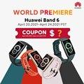 Предварительная продажа глобальная версия браслете Huawei Band 6 Smartband крови кислородом 1,47 ''с органическими светодиоидами Heart Rate трекер, монитор...