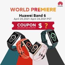 Pré-venda versão global huawei band 6 smartband oxigênio no sangue 1.47 amamamtela amoled rastreador de freqüência cardíaca monitoramento de sono smartband