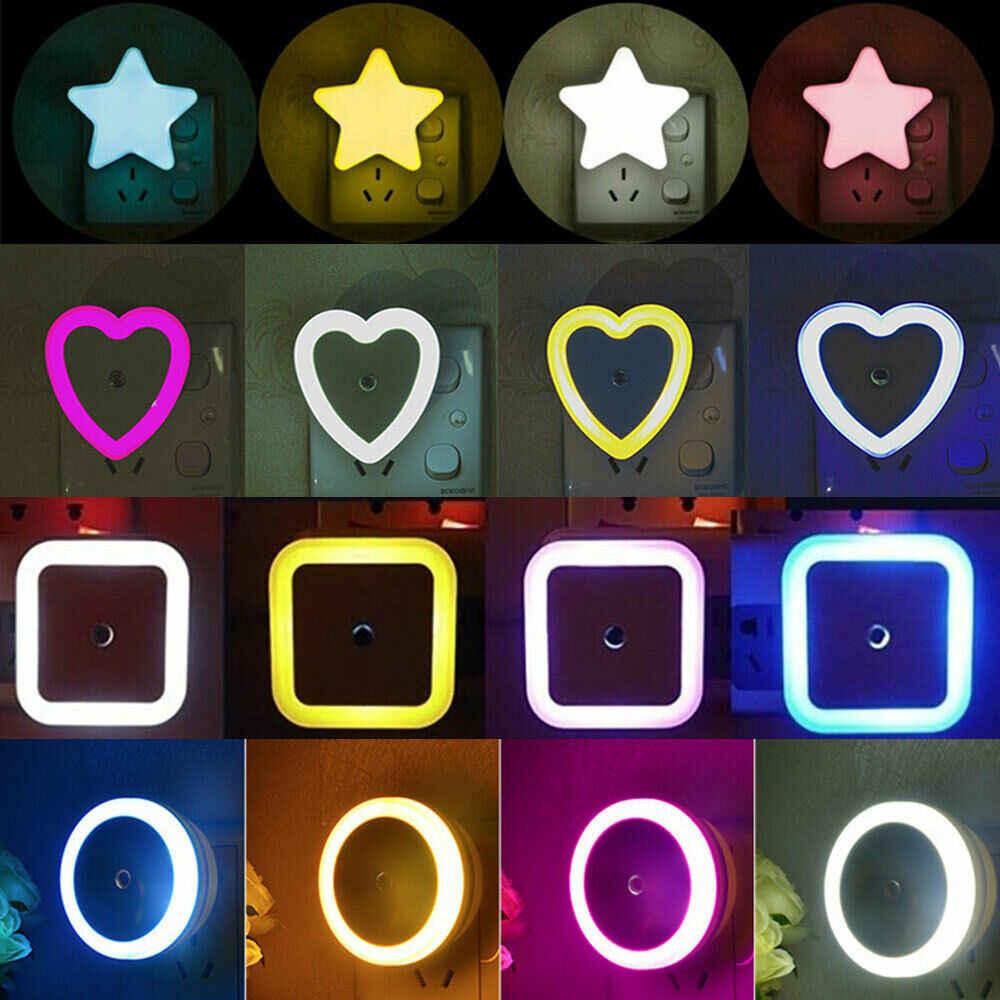 """אור חיישן בקרת מיני LED לילה אור 110V 220V האיחוד האירופי ארה""""ב תקע מנורת לילה מנורה לילדים ילדים סלון חדר שינה תאורה"""
