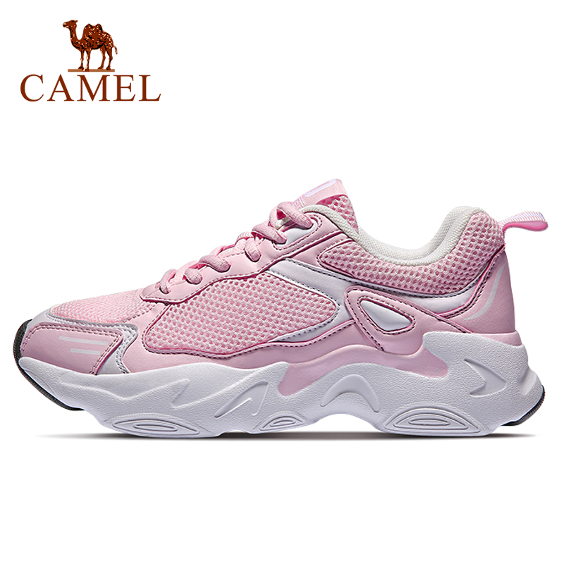 CAMEL New Women Sneaker Shoes Sport Walking Platform Chunky Fashion Casual Lightweight Breathable Outdoor Shock Absorption