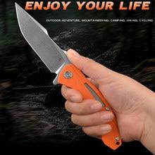 Couteau tranchant et pliable CH 3519, poignée variee G10, roulement à billes D2, Combat de sauvetage EDC, Camping en plein air, randonnée, cyclisme, couteau de haute dureté