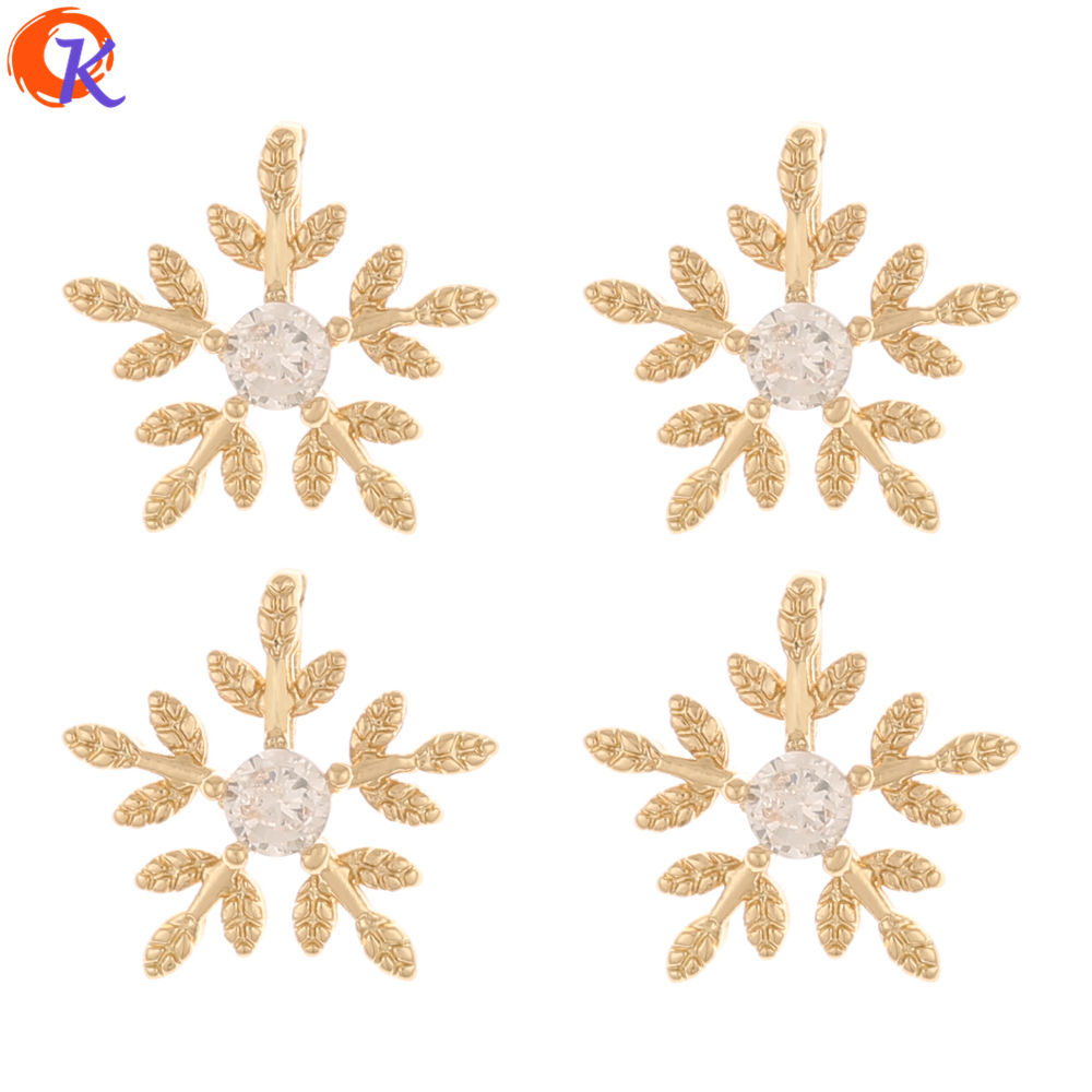 Cordial Design 100Pcs 12*12MM Jewelry Accessories/Hand Made/CZ Charms/Flower Shape/Jewelry Making/DIY Pendant/Earring Findings