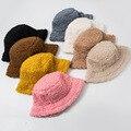 Женская однотонная шапка из искусственного меха, теплая зимняя Панама из искусственного меха для женщин, Солнцезащитная Панама для улицы, Д...