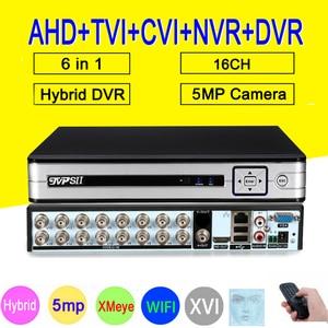 Image 1 - Nastro Pannello HI3531D H.265 + Xmeye 5MP 16CH 16 Canale 6 in 1 Audio WIFI Hybrid Coassiale ONVIF TVi CVI IP NVR AHD CCTV DVR