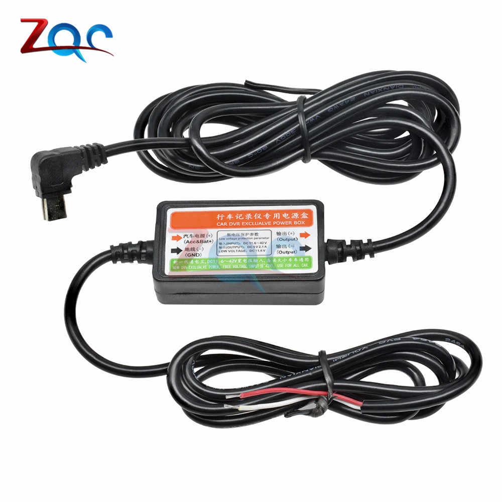Cc 12V à 5V Mini USB câble de chargeur de voiture pour voiture auto caméra enregistreur Dash Cam caméscope véhicule DVR boîte d'alimentation Exclusive