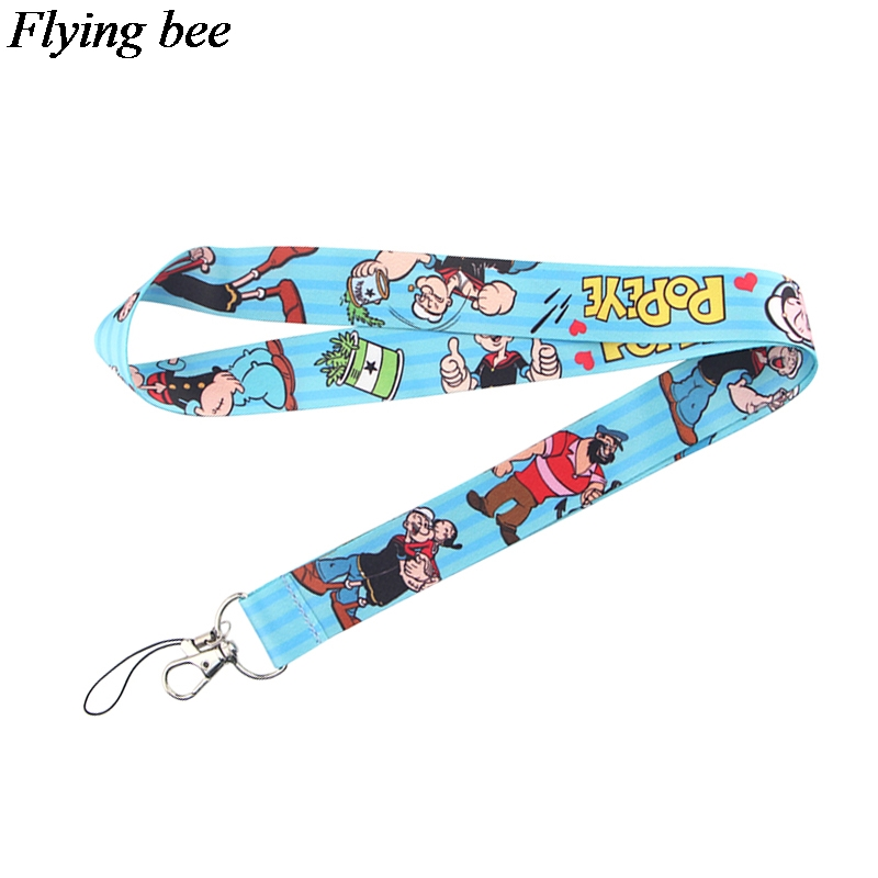 Flyingbee Creative Kawaii Keychain Cartoon Phone Lanyard Women Fashion Strap Neck Lanyards For ID Card Phone Keys X0718