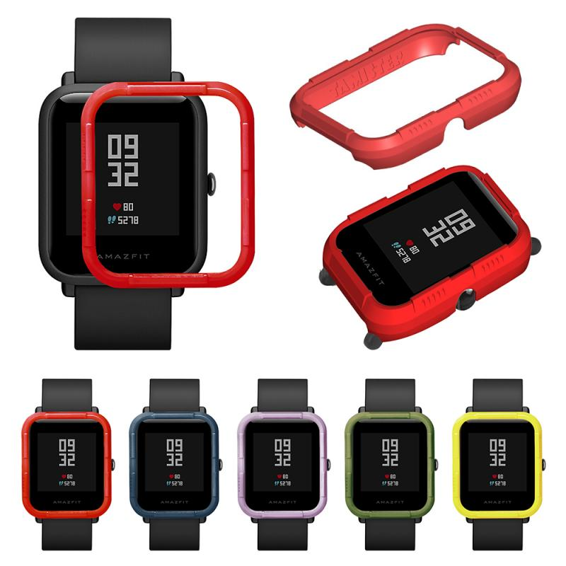 Soft TPU Full Case Cover Shell Protector Protective For Xiaomi Huami Amazfit Bip Bit Youth Smart Watch Frame