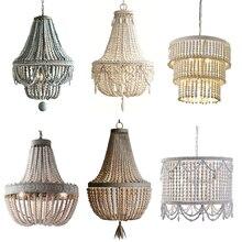 Lámpara de araña Vintage umeilumine, lámpara colgante de madera para comedor, sala de estar, cafés, tiendas, Hotel, estilo rural, iluminación
