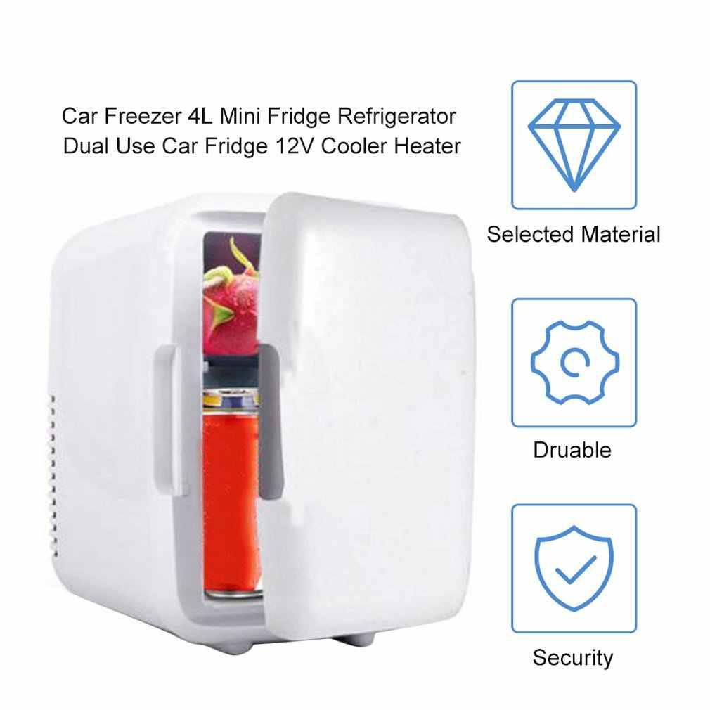 車冷凍庫 4L ミニ冷蔵庫冷蔵庫ポータブルカーホームデュアルユース車の冷蔵庫 12V クーラーヒーターユニバーサル車両部品ドロップシップ