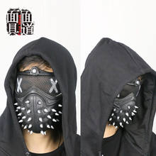 Ver perros 2 Cosplay máscara de Dedsec Aiden Pearce llave casco parche mufla facial Cosplay Prop(China)