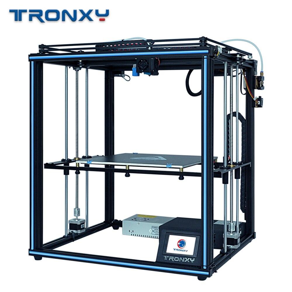 Tronxy 2019 atualizado x5sa 24 v fonte de alimentação 3d impressora completa metal corexy diy kits 24 v mesa calor 330*330mm nível automático impressão 3d