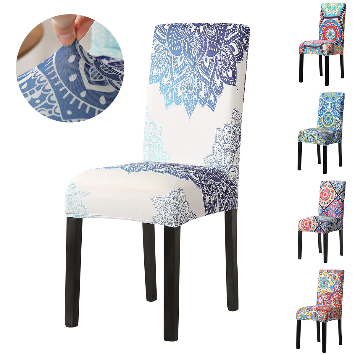 2//4//6//8//10 Pcs Spandex Stretch Wedding Banquet Chair Seat Cover Home Party Decor