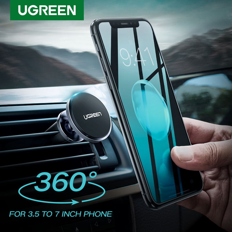 Ugreen Car Magnetic Phone Holder Cell Phone Mount Holder Stand In Car Smartphone Support Magnet For IPhone X Mobile Stand Holder
