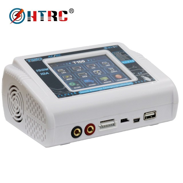 HTRC AC/DC 150W 10A Professional Charger T150 Smart Discharger for Lilon/LiPo/LiFe/LiHV/NiCd/NiMH/PB Battery Balance Charger