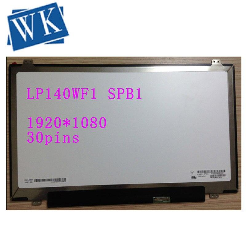 "14/"" inch 1920x1080 IPS 30Pin LCD  Screen For AUO B140HAN01.3 Display free ship"