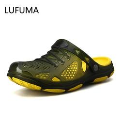 2019 Crocks Hole Shoes Croc Men Green Garden Casual Rubber Clogs For Men Male Sandals Summer Slides Crocse Swimming Jelly Shoes
