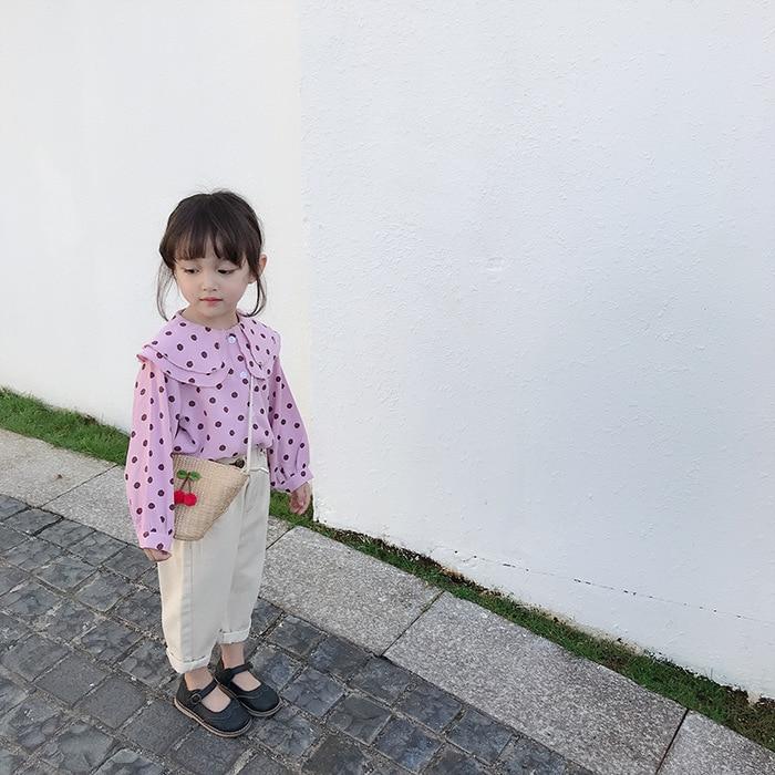 longa lapela moda blusas camisas crianças topos