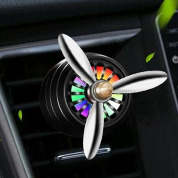 Mini LED Car Smell Air Freshener Conditioning Auto Vent Outlet Perfume Clip Fresh Aromatherapy Fragrance Atmosphere Light image