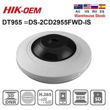 Ip-камера Hikvision OEM, DT955 (oem-производитель), 5 МП, H.265 +, Фиксированная купольная сетевая камера «рыбий глаз» со слотом для SD-карты