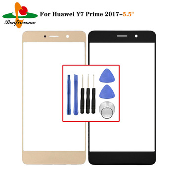 Outer Screen For Huawei Y7 Prime 2017 TRT-LX2 TRT-LX1 Front Touch screen Panel LCD Display outer Glass Cover Lens Replacement image