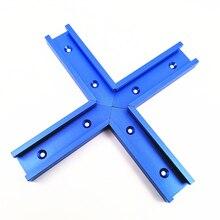 Jig-Fixture Miter Track Circular-Saw Table-Woodworking-Tool Intersection Flip Aluminum-Slot